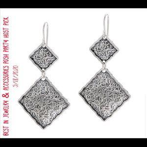 HP💕Vtg Or Paz Textured Sterling Silver Earrings